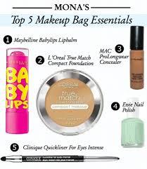 monieset makeup bag essentials