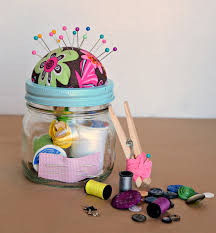 diy sewing kit gift in a jar gift craft and christmas gifts