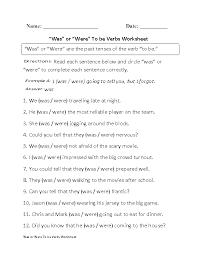 verbs worksheets to be verbs worksheets