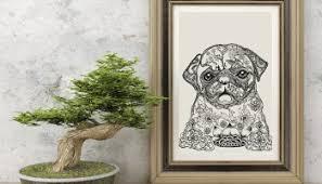 diy framed paw print the pug diary