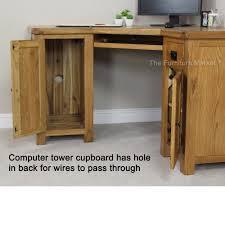 rustic oak corner desk office study large computer table