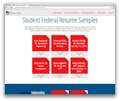 usa jobs resume sample introducing the student federal resume sample database the student federal resume samples screenshot