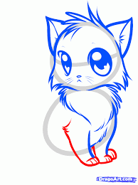 how to draw a cute anime cat step by step anime animals anime