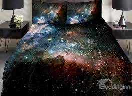 magical galaxy and shining star print 4 piece duvet cover sets