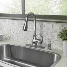 Moen Solidad Kitchen Faucet by Shop Moen Kipton Chrome 1 Handle Deck Mount Pull Down Kitchen