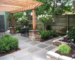 Backyard Stone Ideas by Backyard Paver Ideas Landscape Contemporary With Raised Beds