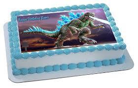 godzilla cake topper godzilla 2 edible birthday cake topper edible cake image