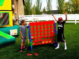 Backyard Connect Four by Giant Connect Four Rental Rent A Giant Game For Big Fun Utah