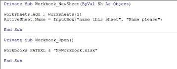 excel vba u2013 event procedures excelmate