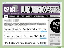 3 ères de installer des polices de caractères