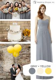 gray and yellow color schemes top 10 spring wedding color schemes wedding shoppe