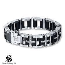 men jewelry bracelet images Kay men 39 s diamond bracelet 1 1 2 ct tw round cut stainless steel jpg