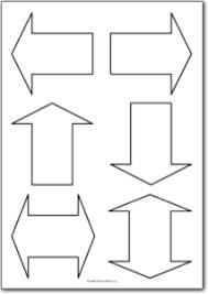basic arrow shapes free printables free printable shape templates