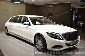 maybach 2015 mercedes maybach s600 pullman front three quarter right at iaa
