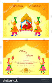 Indian Marriage Invitation Card Vector Illustration Indian Wedding Invitation Card Stock Vector