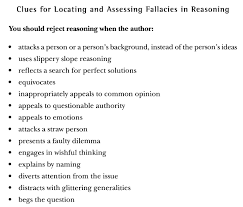 critical reading are there any fallacies in the reasoning in they