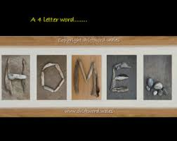 driftwood letters etsy