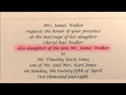 how to write a wedding invitation how to write wedding invitations in honor of deceased parent