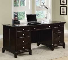 garson home office executive desk in rich cappuccino finish by