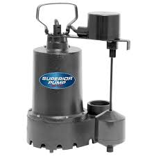 Water Pump Home Depot Superior Pump 1 3 Hp Submersible Cast Iron Sump Pump 92341 The
