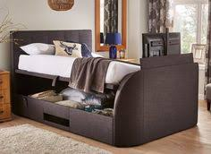 Bed Frame With Tv In Footboard Titanium T3 Tv Bed Frame With Samsung Led Tv Dreams Bedroom