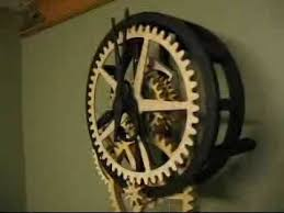 Free Wood Clock Plans Download by Dave U0027s Wooden Gear Clock Youtube