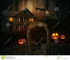 scary creepy jack o u0027lantern in a spooky backyard of a farmhouse