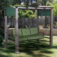 pergola swing outdoor patio pergola swing replacement canopy garden winds