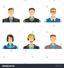 Customer Service Director Simple Office People Icons Vector Manager Stock Vector 146692370