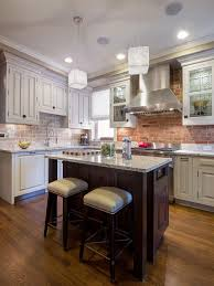 Colorful Kitchen Backsplashes Modern Brick Backsplash Kitchen Ideas
