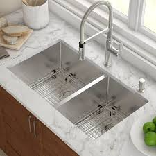 Kraus Kitchen Sinks 33 X 19 Basin Undermount Kitchen Sink With Drain Assembly