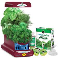 amazon com aerogarden sprout with gourmet herb seed pod kit red