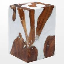 bout de canap bois craquez pour ce sublime tabouret en bois brut blanc