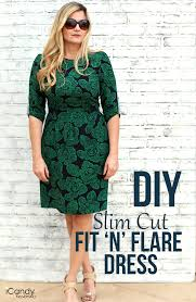 dress pattern fit and flare diy slim fit flare dress icandy handmade