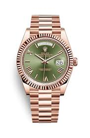 rolex day date 40 18 ct everose gold 228235