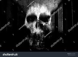 background halloween image horror skullblack white horror background halloween stock