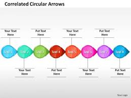 ppt correlated circular arrows powerpoint templates horizontal