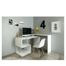 bureau angle blanc bureau blanc 130 cm bureau d angle ado meuble de rangement bureau