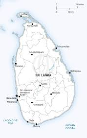 Map Of Sri Lanka Vector Map Of Sri Lanka Political One Stop Map