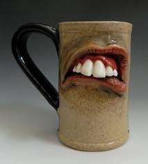 darted pottery mugs nice for work when your boss tells you to do