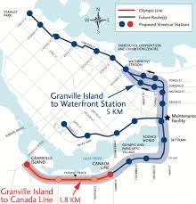 Vancouver Skytrain Map Why Is The Train Track From Olympic To Granville Island
