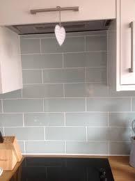 b q kitchen tiles ideas wellington blue ceramic wall tile pack of 33 l 300mm w 100mm