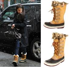 womens boots nyc braving the cold york weather wearing a pair