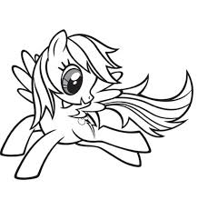 pony rainbow dash free coloring pages art coloring