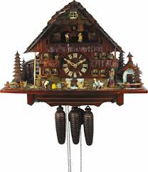 cuckoo clock 8 day movement chalet style 45cm by august schwer