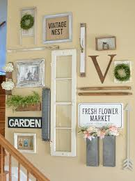 How To Decorate A Great Room Farmhouse Style Gallery Wall For Spring Farmhouse Style Gallery