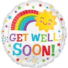 get well soon and balloons get well soon balloon delivered inflated in uk