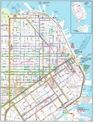 san francisco map downtown san francisco transportation map san francisco bay area