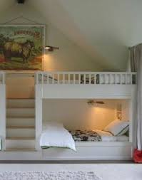 Kids Bed Room by Contemporary Bunk Room Features White Built In Bunk Beds With Top
