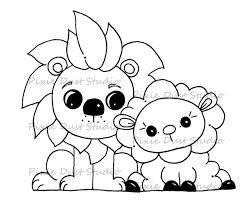 free coloring page lamb